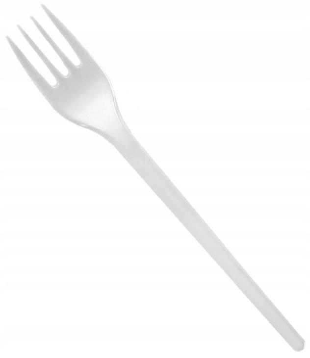 Plastová vidlica Jednorazová biela 100ks