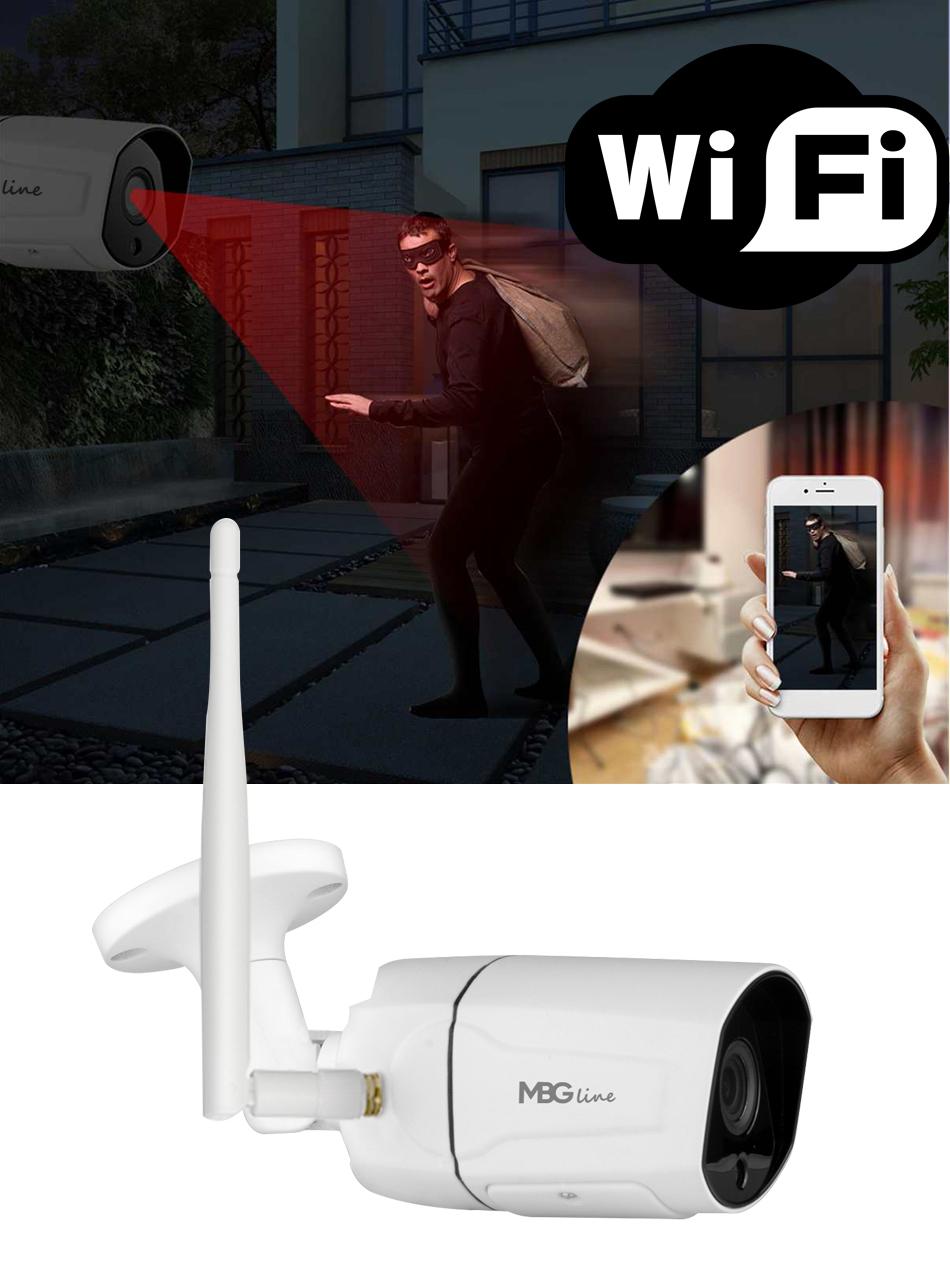 Zewnętrzna kamera IP H265 P2P Full HD METAL WIFI Typ kamery kolorowa na podczerwień