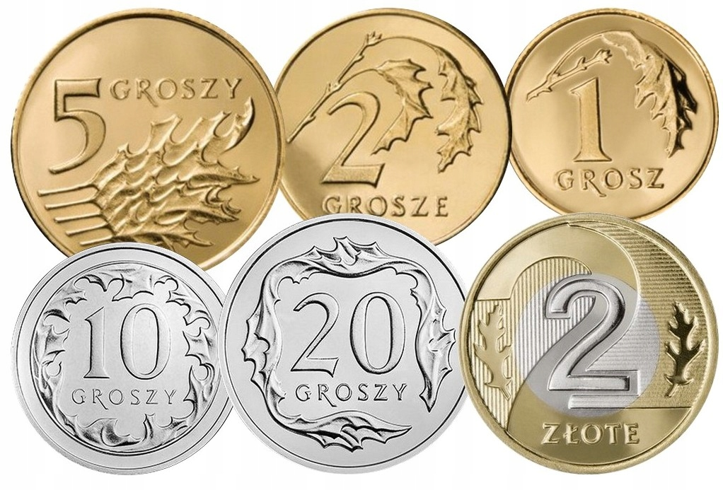 Komplet monet obiegowych 2005 r. UNC 6 sztuk