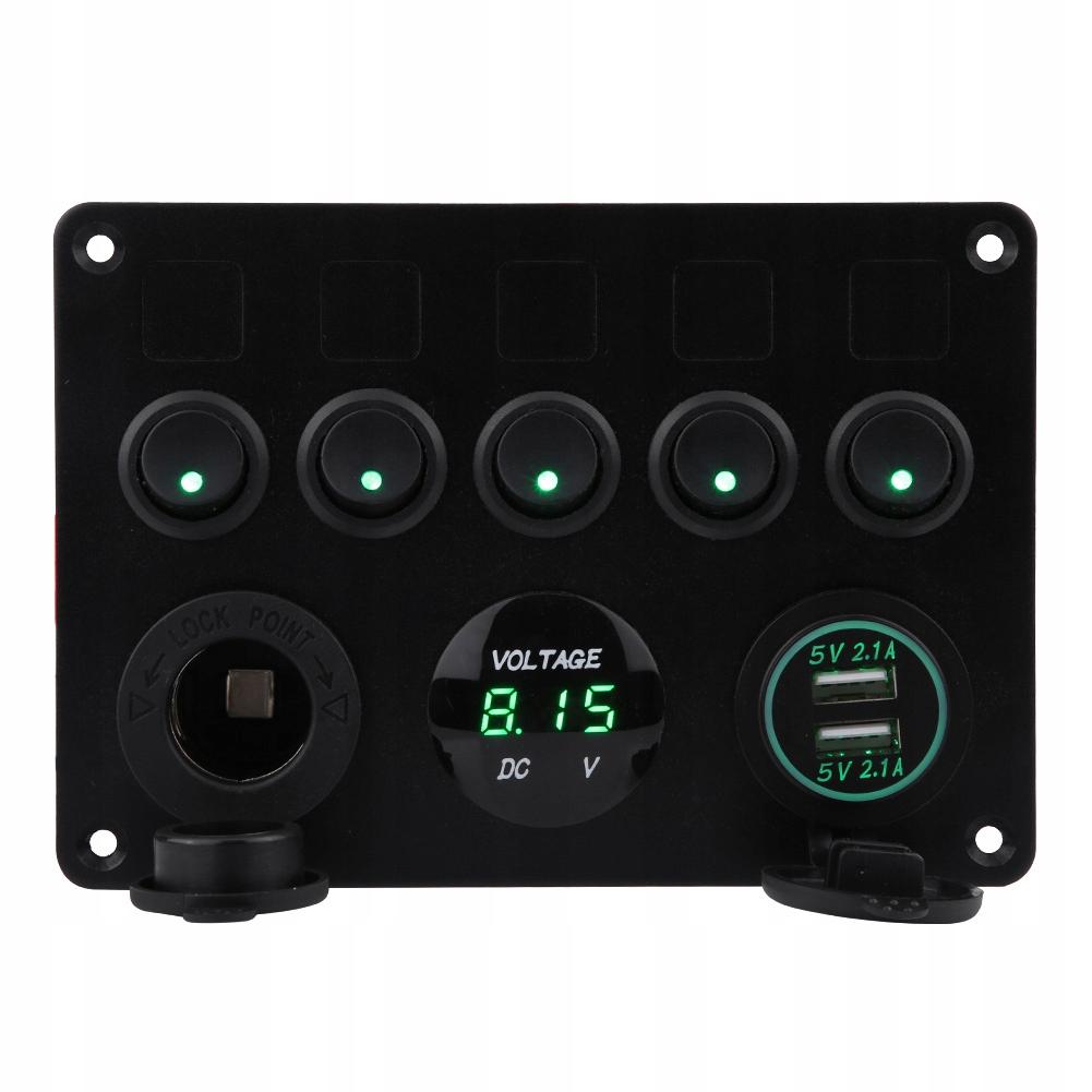 12-24v 5 банда панель переключателей для автомобиль