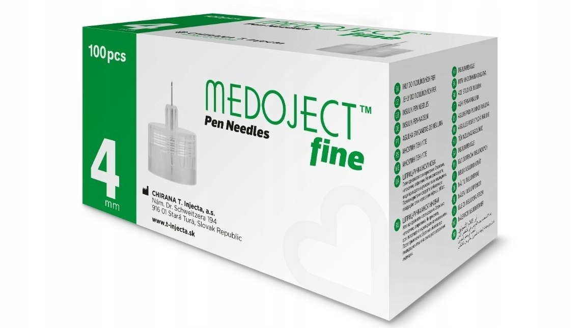 MEDOJECT fine 32G 4mm x 0,23 Igły do penów 100 szt