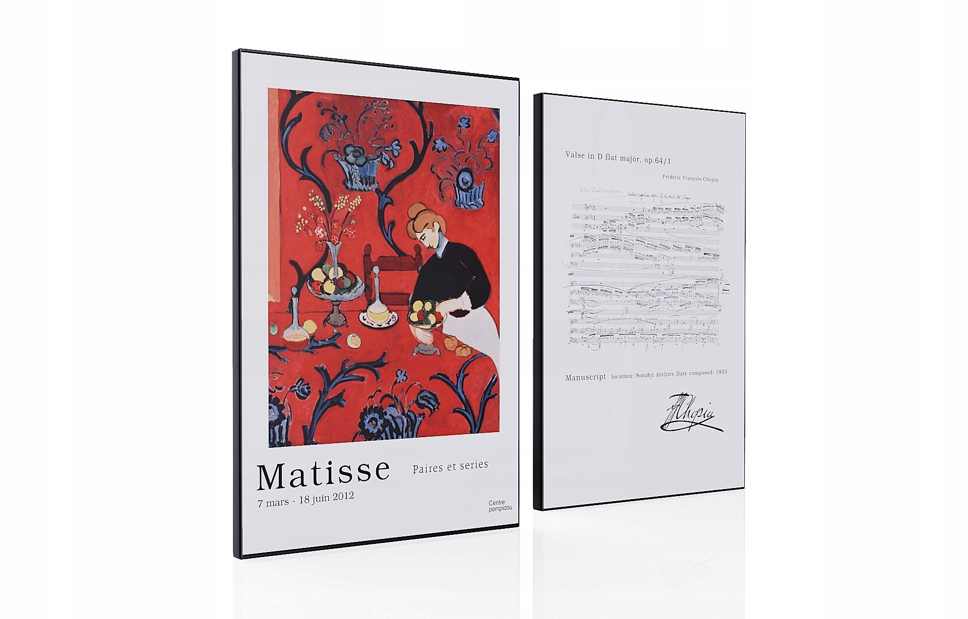 Henri Matisse Zestaw 2 sztuk Chopin Rękopis Art A3