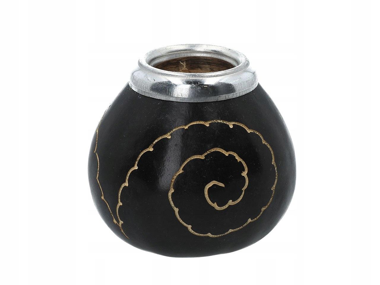 Kubek herbata yerba mate matero czarna tykwa napar