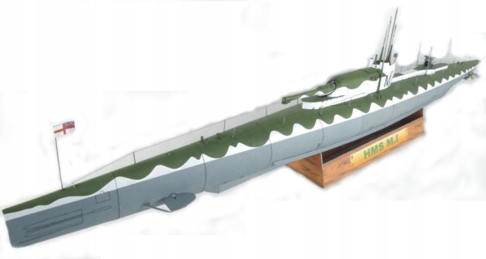 MODEL KARTONOWY OKRĘT PODWODNY HMS M.I EXTRA MODEL