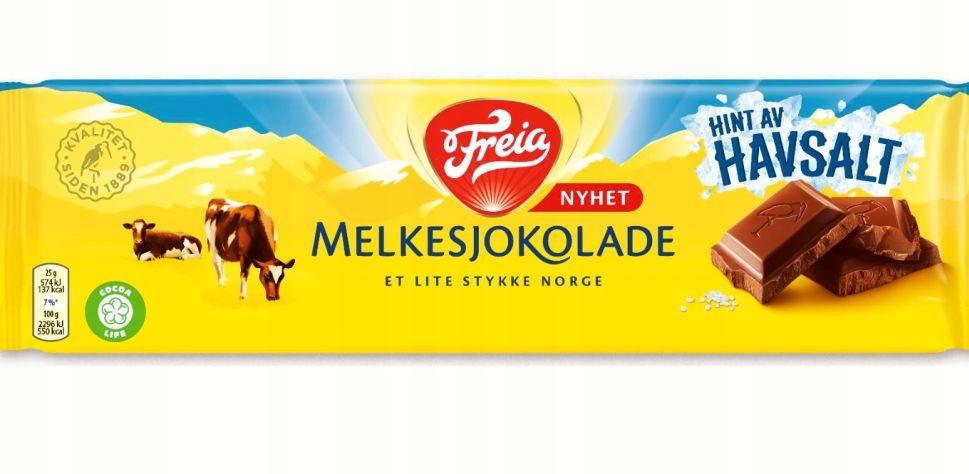 Норвежский шоколад Freia Hint av HAVASALT 200 г