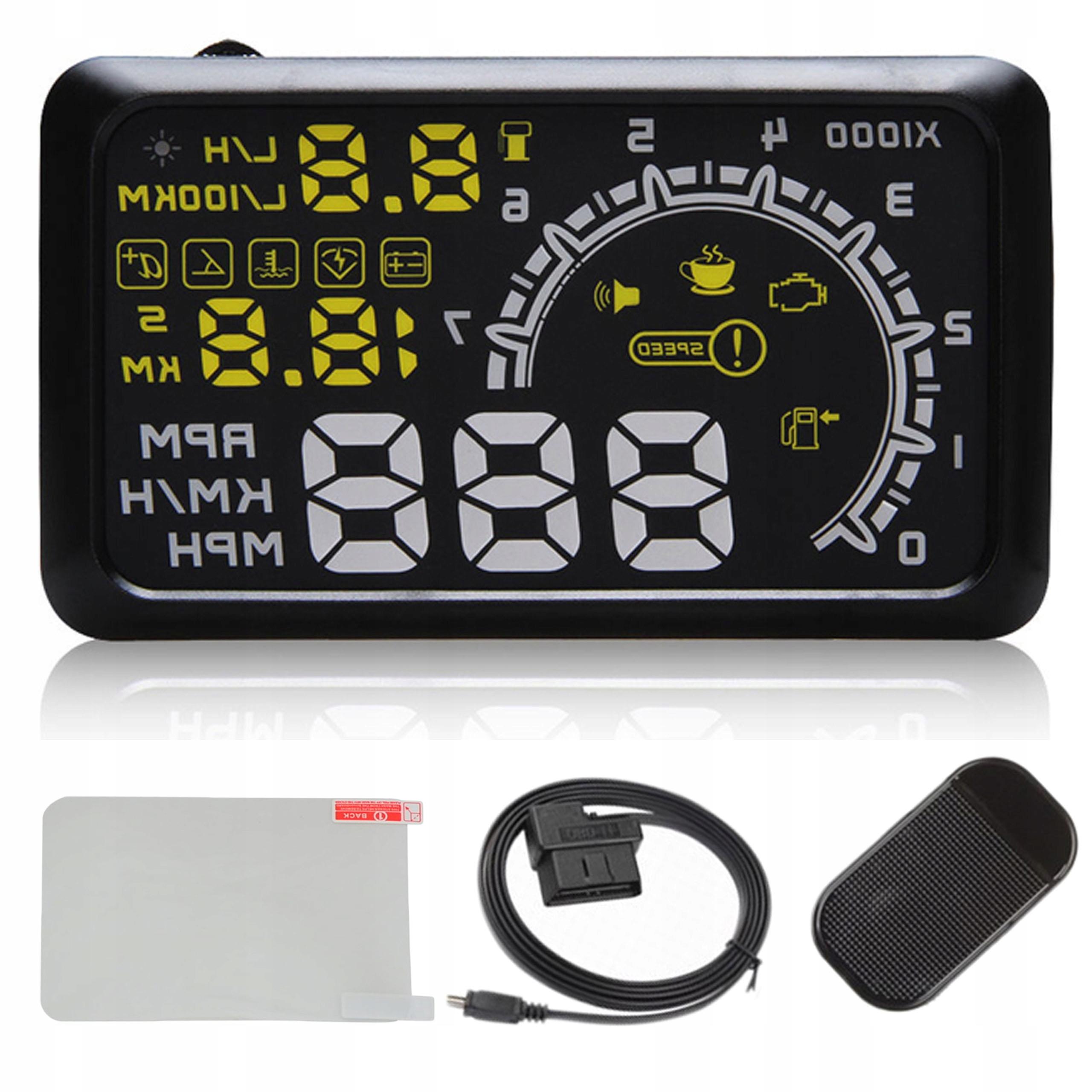 Дисплей светодиодный проектор LCD HUD OBD2 5.5 часов