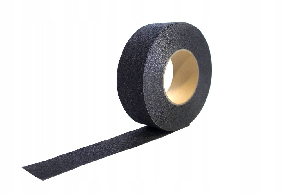 Черная нескользящая лента для лестниц 102мм х 18м