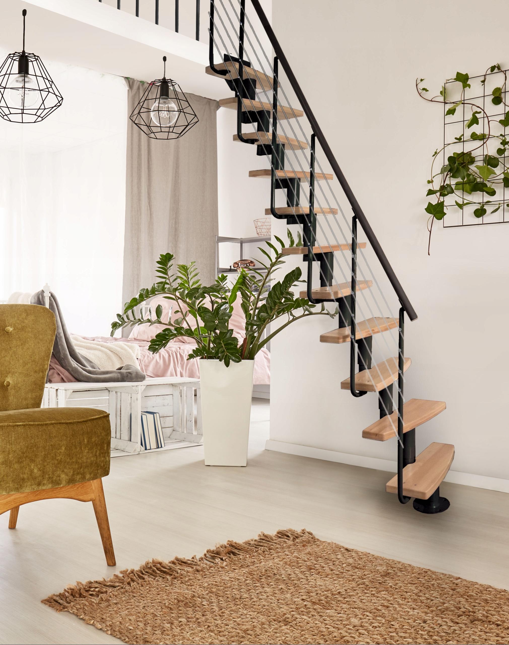 Модульная лестница Mini Plus 11 эл. бук натуральный / ПРЕМИУМ