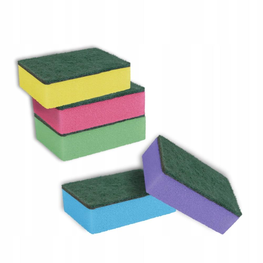 ZESTAW zmywaki gąbki do mycia naczyń duże 5szt Liczba sztuk w opakowaniu 5 szt.