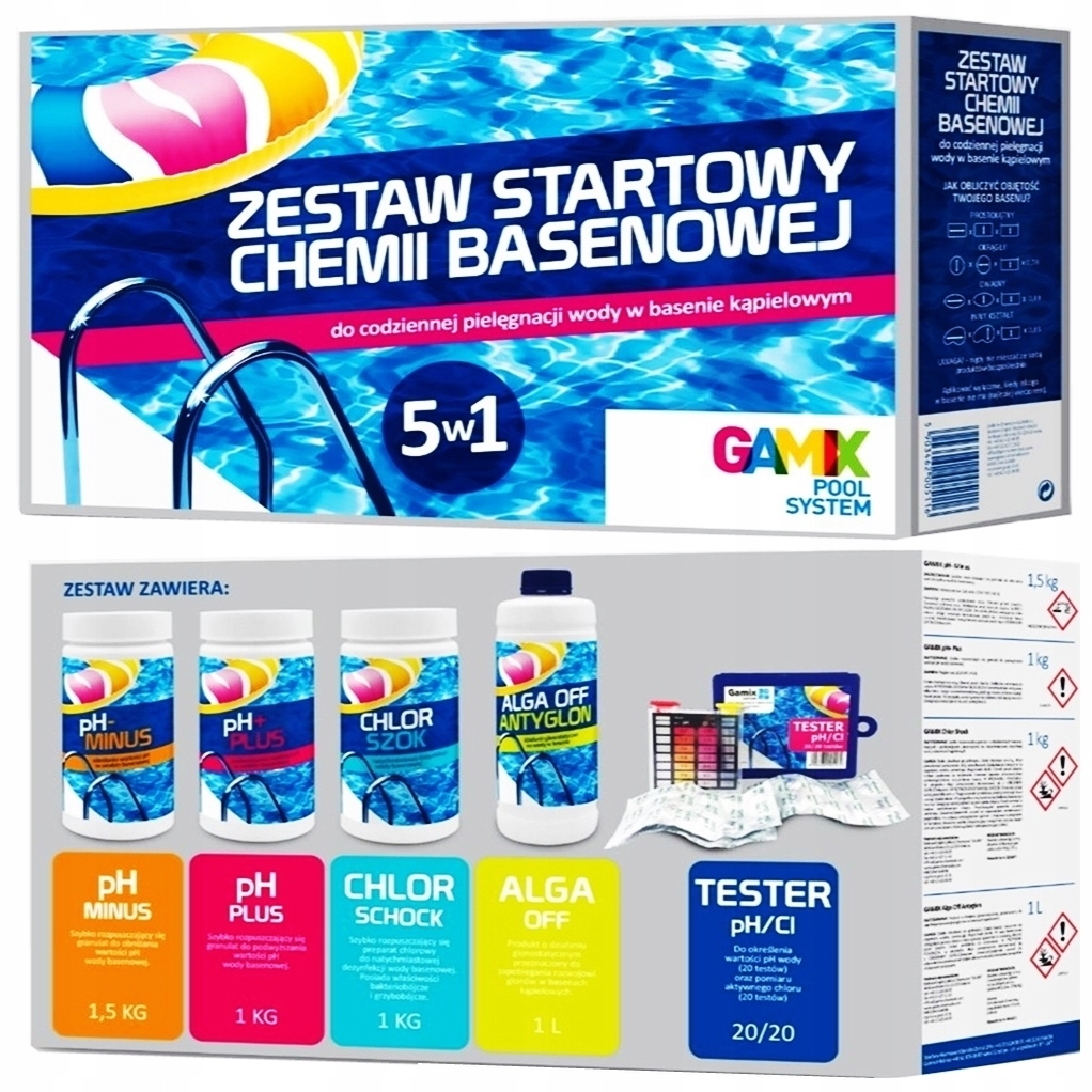 5in1 Стартовый Комплект Химии для бассейнов до Bestway