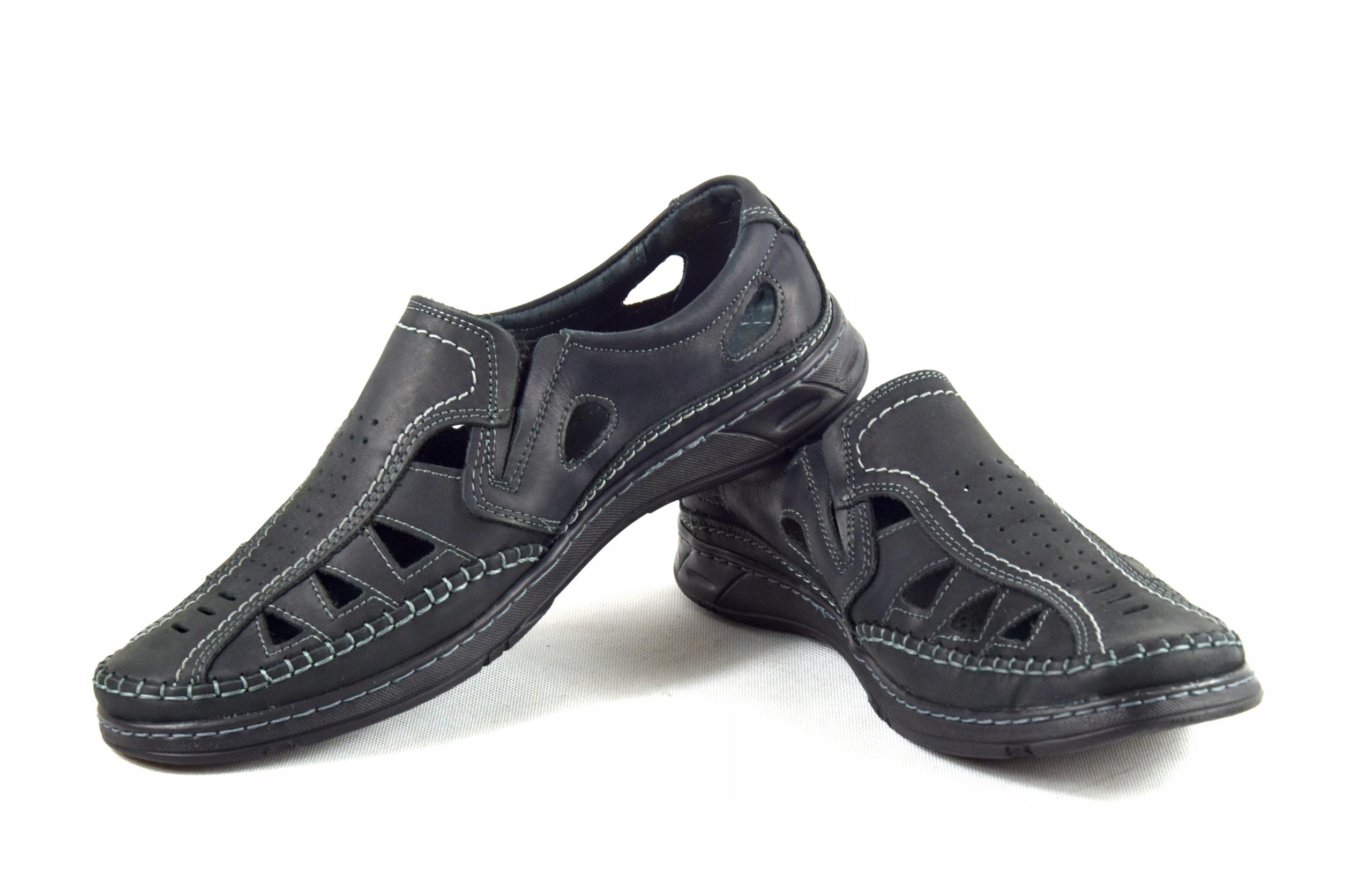 Męskie buty skórzane polskie mokasyny skóra 0270CC Oryginalne opakowanie producenta pudełko