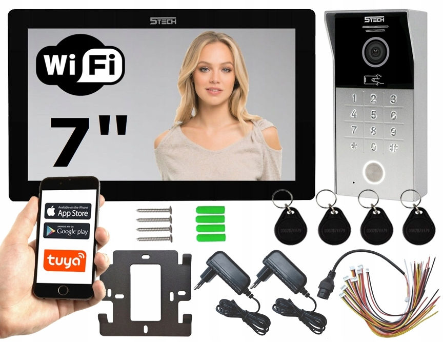 Wideodomofon Videodomofon 7' WiFi 5TECH TELEFON