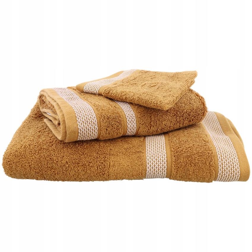 Набор из 3-х толстых полотенец из хлопка.