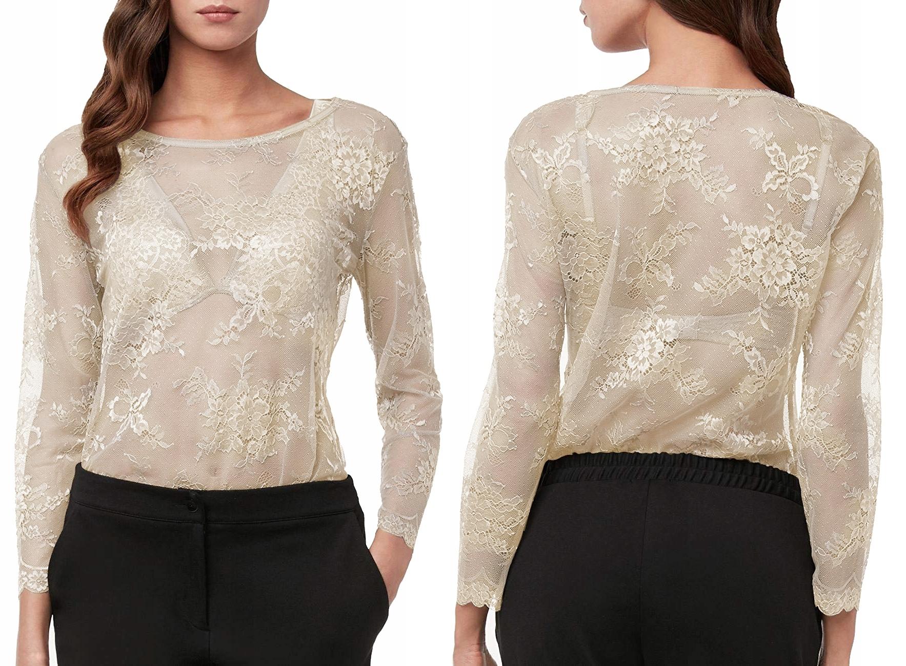 Intimissimi bluzka tunika koronkowa beżowa L