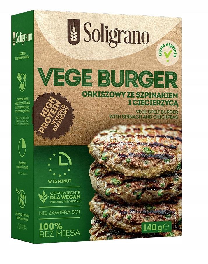 Vege Burger Spelled Szpiank и нута 140 г
