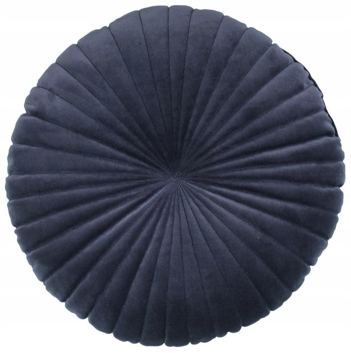 Декоративная круглая велюровая декоративная подушка ГЛАМУР