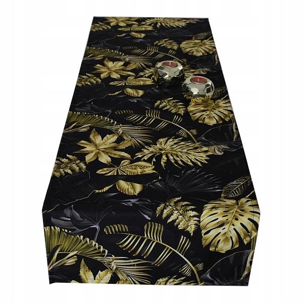 ДЕКОРАТИВНАЯ ПРОТЕКА для стола 40x140 золотые листья