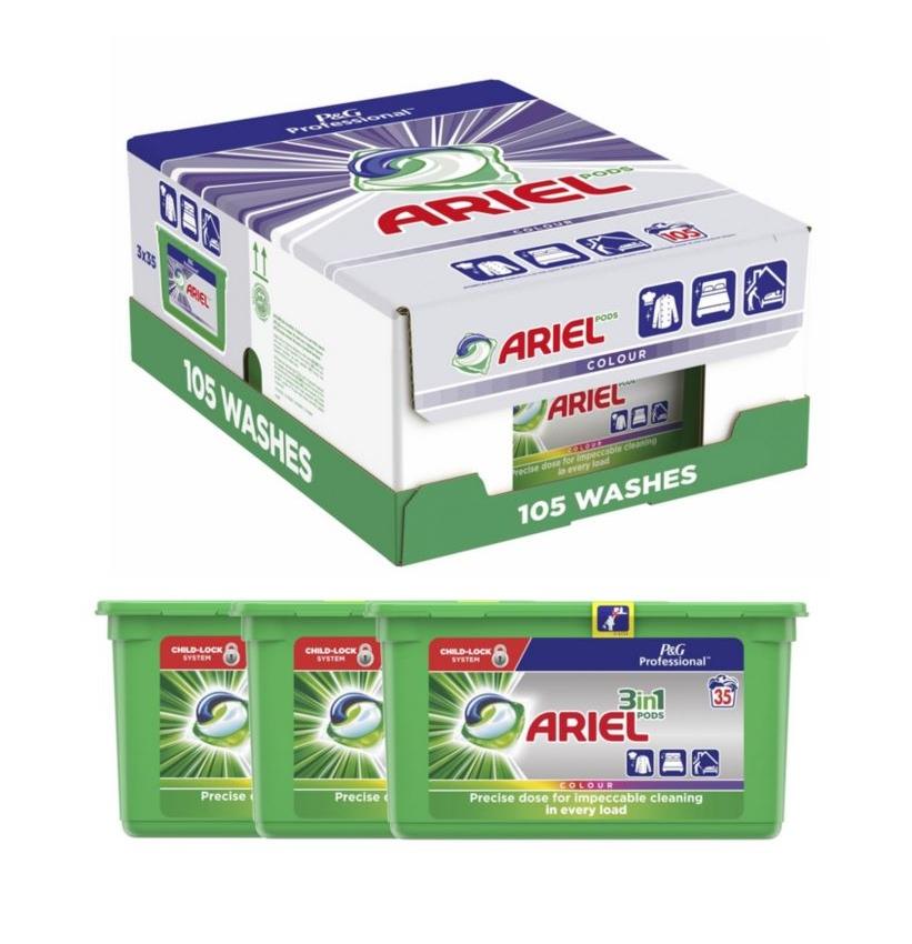 Ariel kapsule 105 kusov farba 3x35szt. FARBA