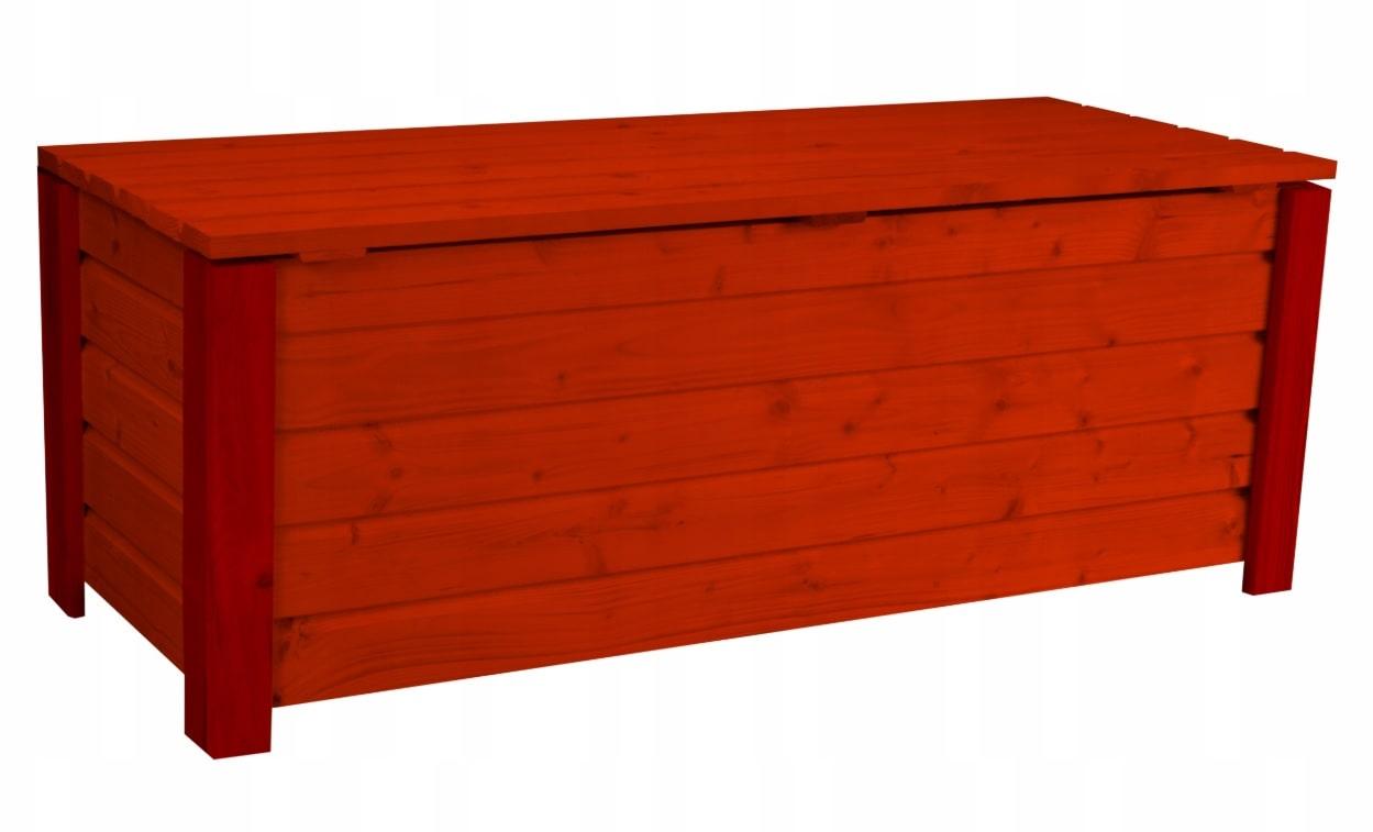 Skrzynia ogrodowa balkonowa pojemnik kufer Mahoń