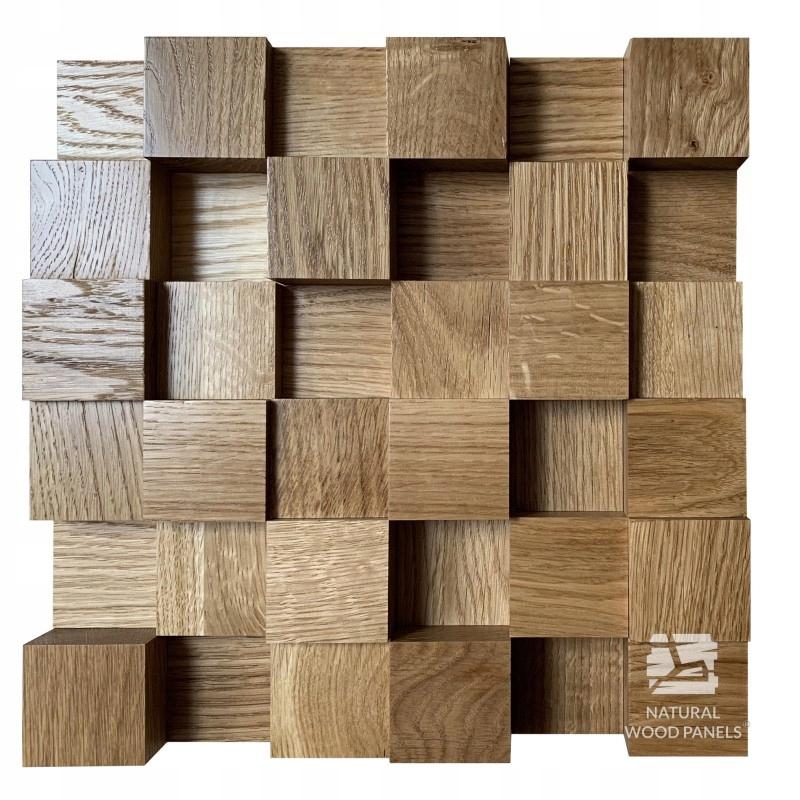 Panel Akustyczny drewniany 30x30cm Dąb Dyfuzor 3d