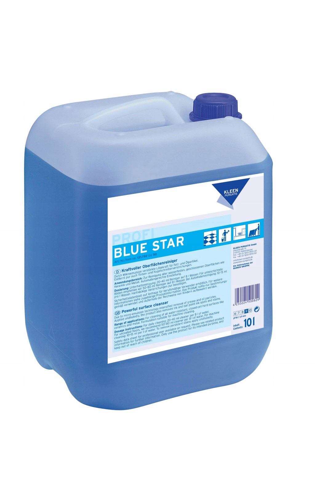 Blue Star liquid Сильная универсальная жидкость для стирки 10л