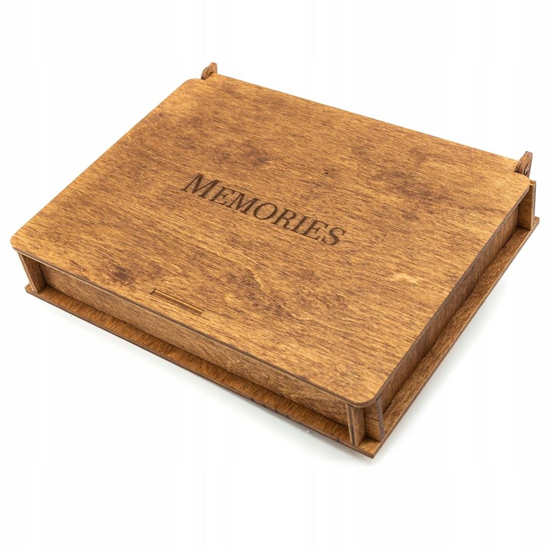 ALBUM drewniany na ZDJĘCIA Pudełko 10x15 150 szt