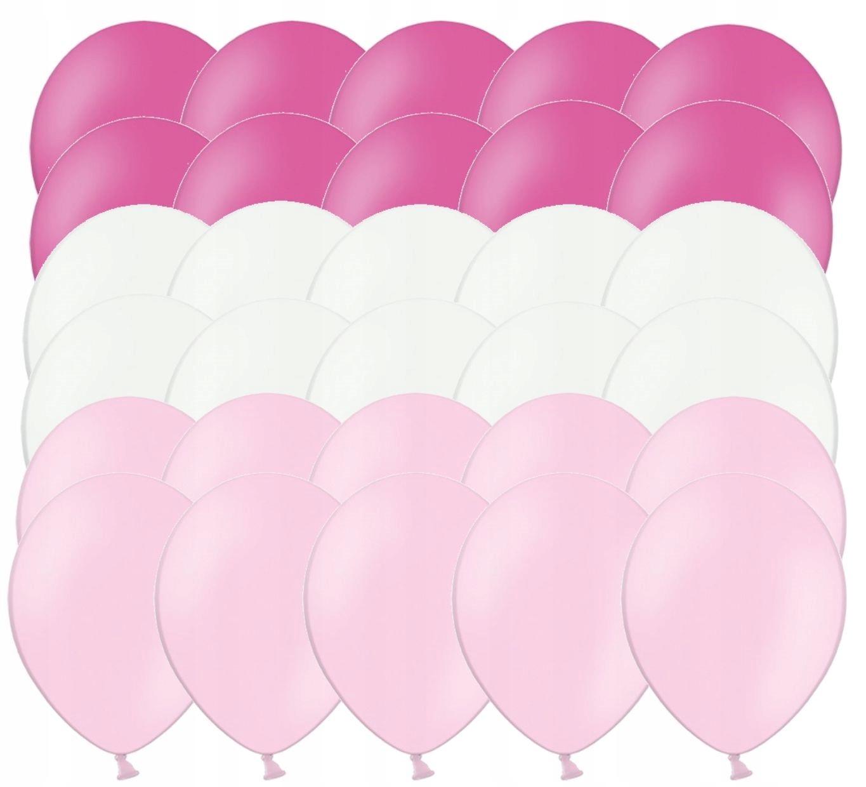 Воздушные шары для одного года крещения Baby shower розовый 30 шт.