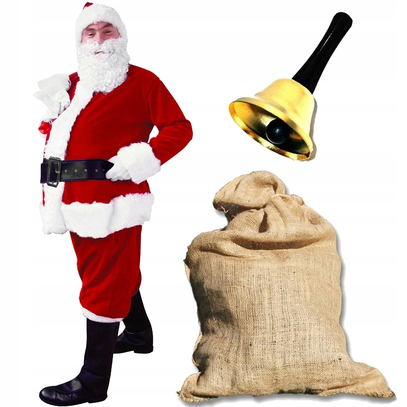 Костюм Санта-Клауса Костюм Велюр LUX Набор из 9 шт.