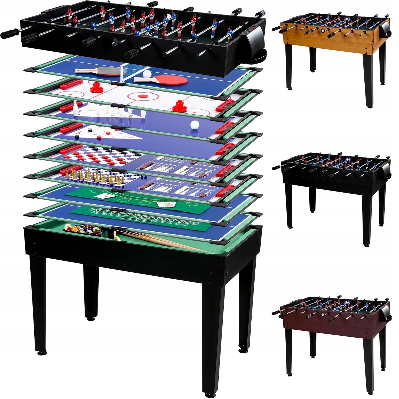 Многофункциональный стол для игры в настольный футбол 15в1, бильярд