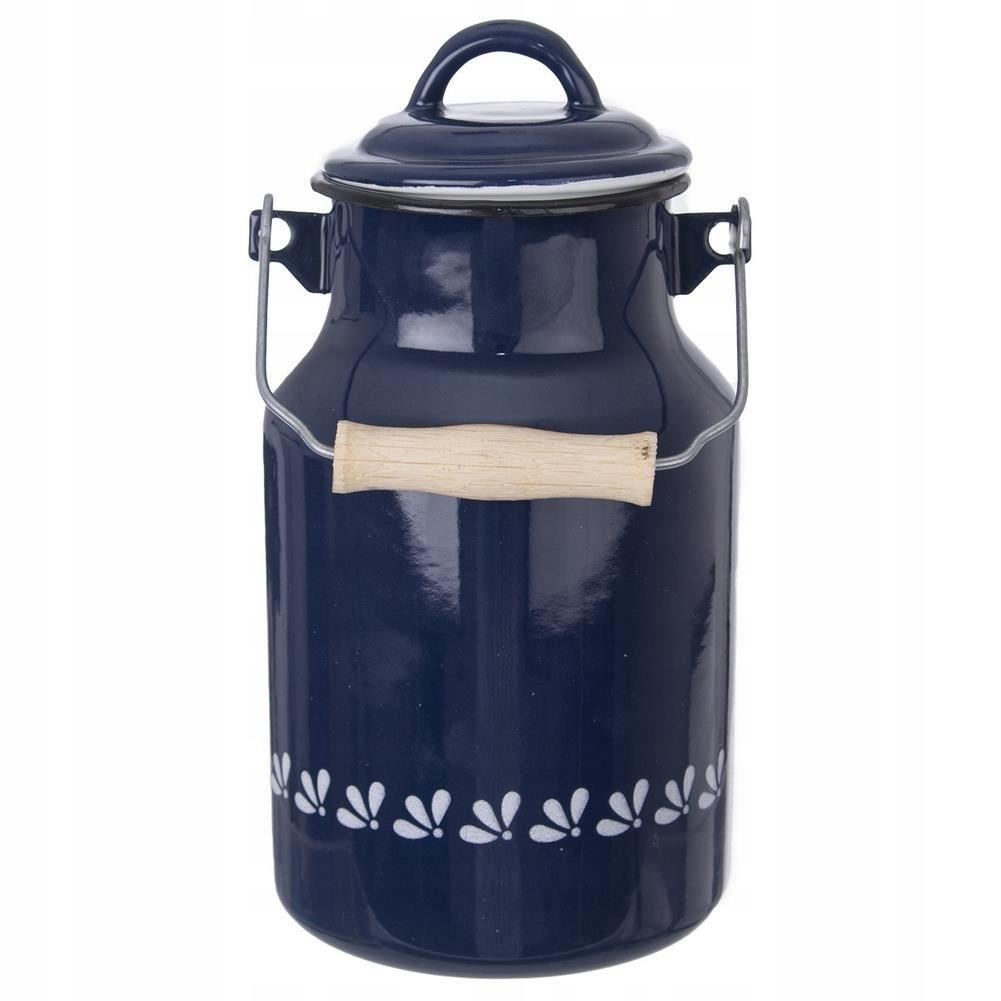 Kanka smaltovaný kanister na mlieko retro 2L