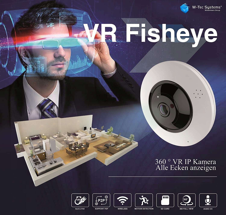 Kamera IP + analog FISHEYE 6MPX RYBIE OKO mSD 360' Model FISHEYE