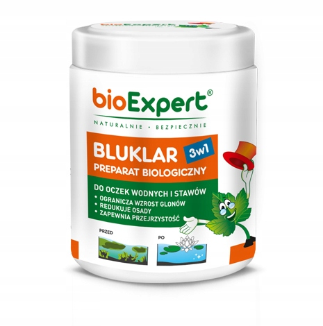 BIOEXPERT BLUKLAR 3w1- likwiduje muł, osad i glony