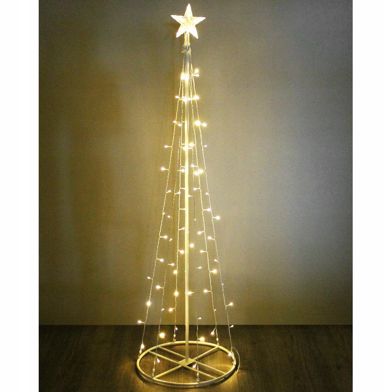 Vianočný stromček osvetlený 240cm LED kužeľ