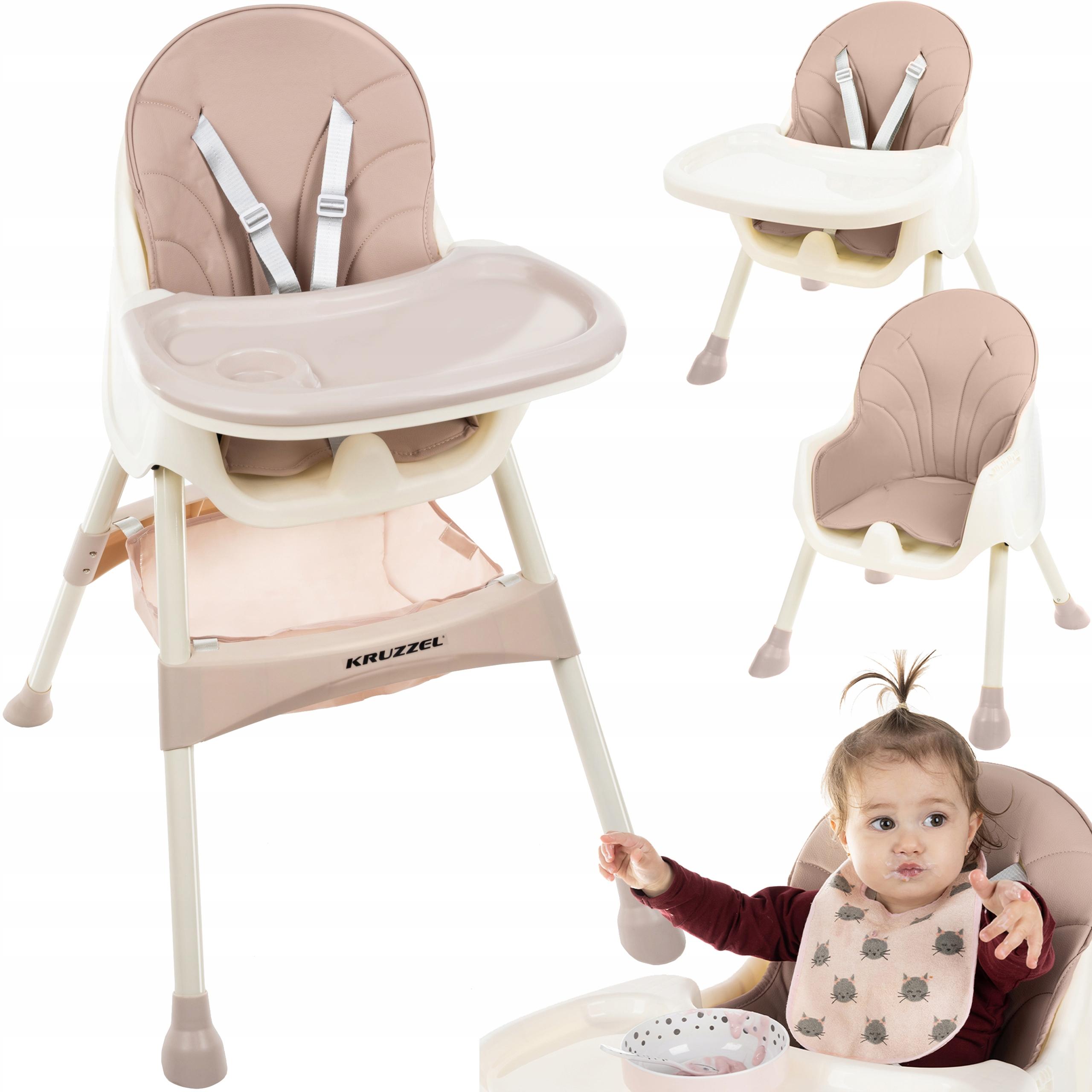 Krzesełko do Karmienia dla Dzieci 3w1 Taca Fotelik