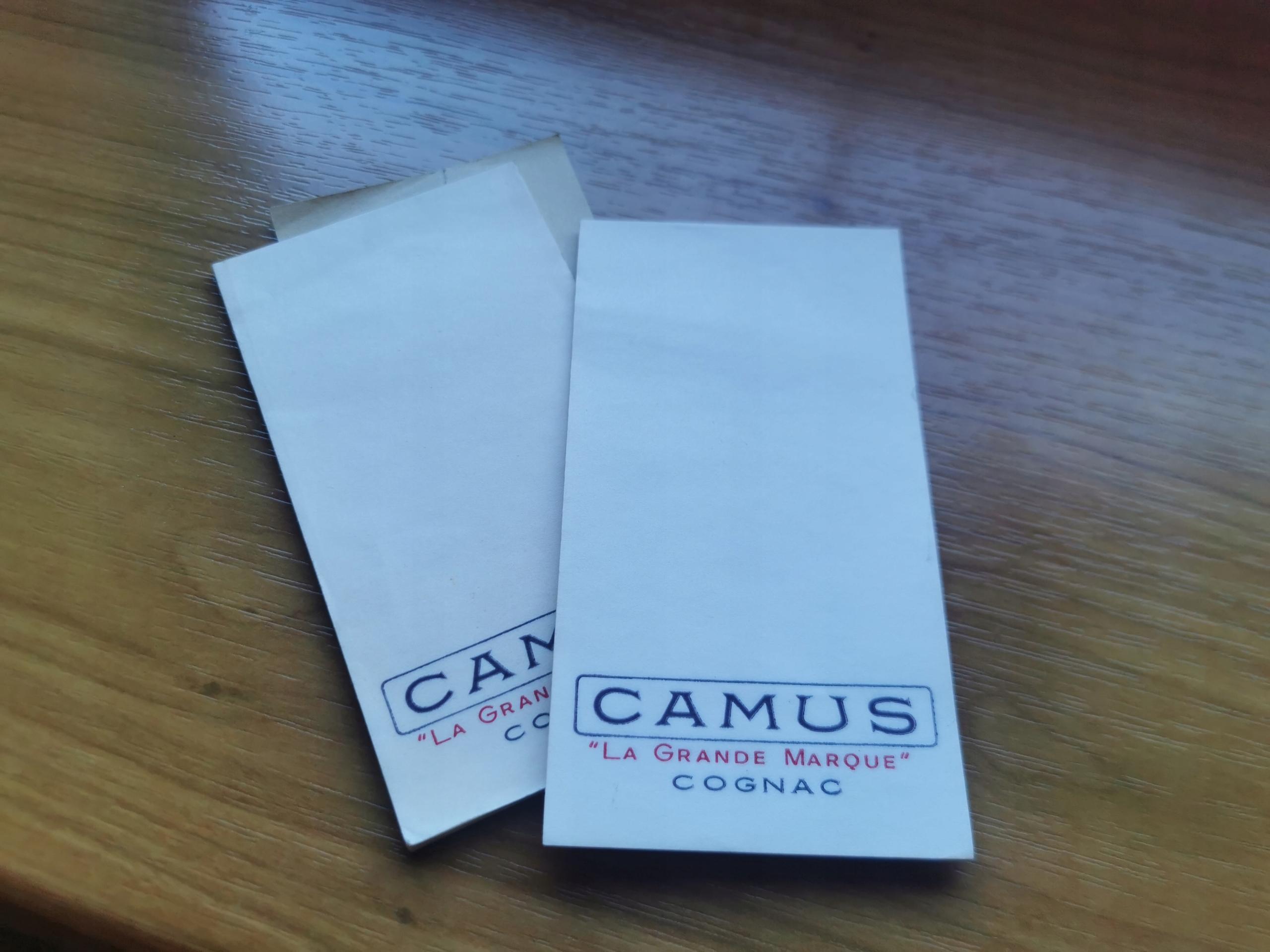 Stary notesik - Camus La Grande Marque Cognac