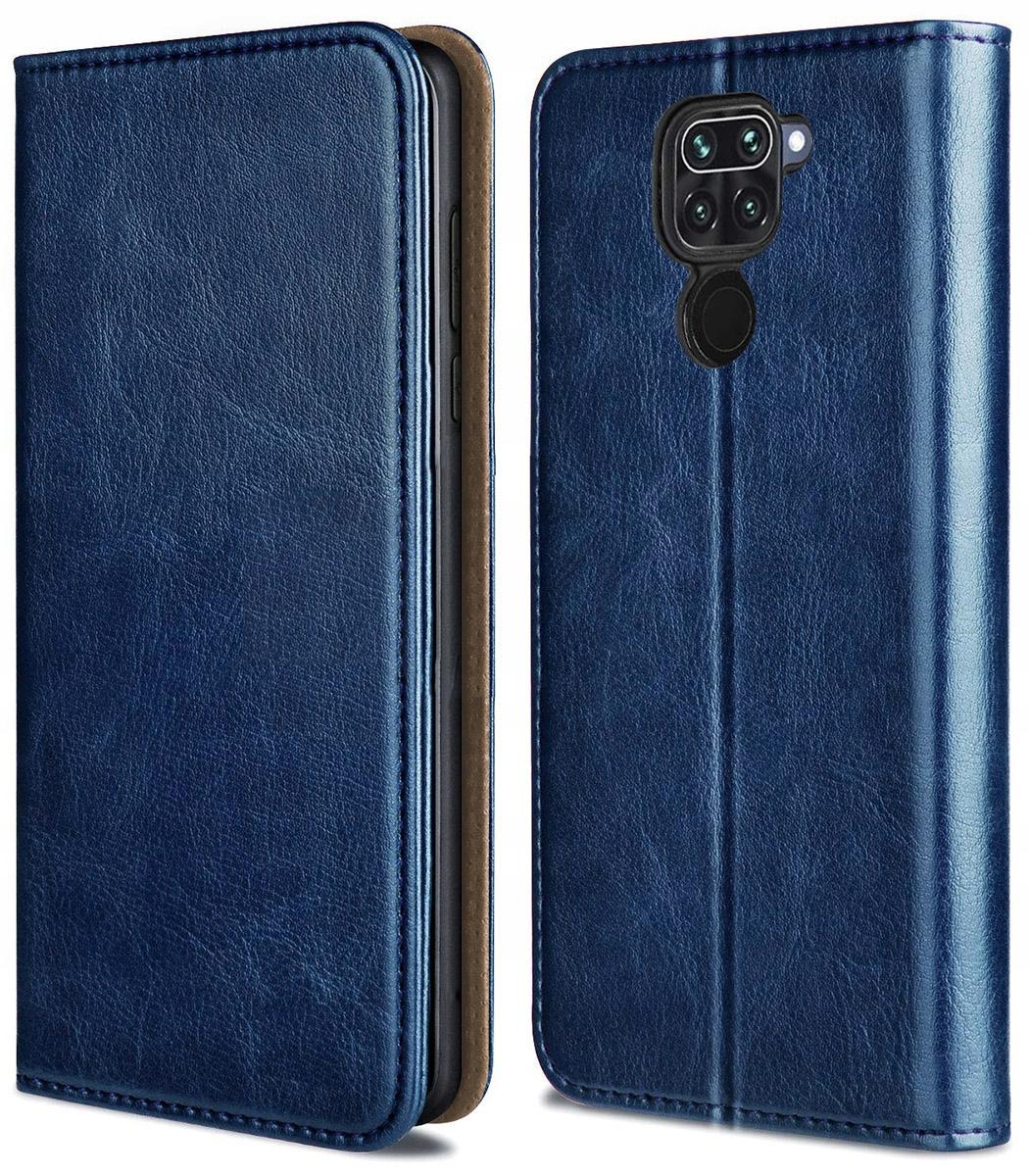 Etui do Xiaomi Redmi Note 9 Skórzane Case + Szkło