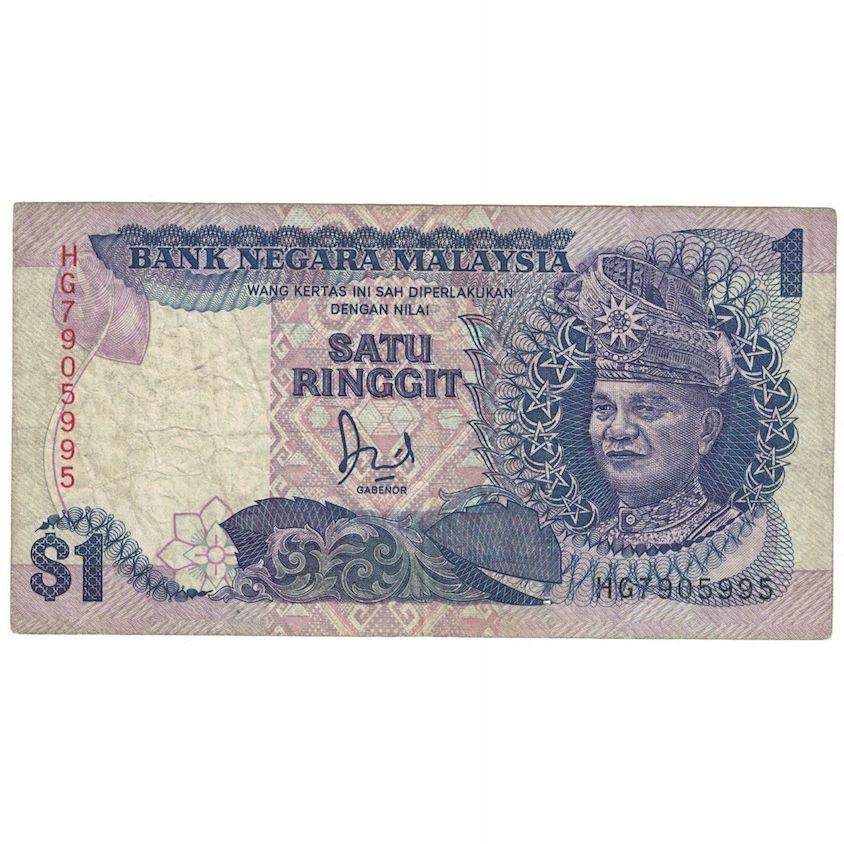 Банкнота, Малайзия, 1 ринггит, 1989, KM: 27b, F (12-15