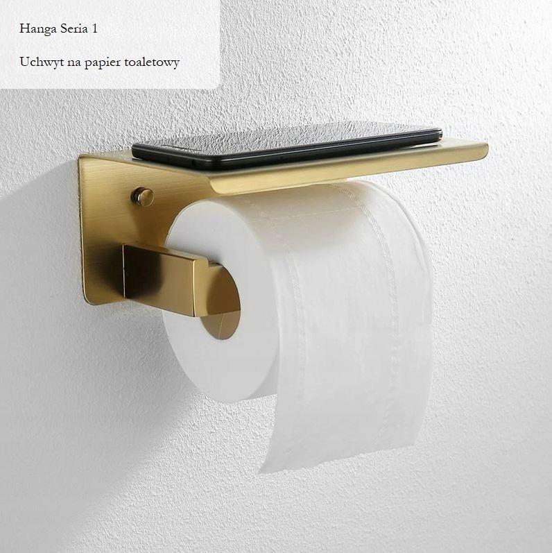 Zlatý vešiak na toaletný papier Hanga série 1