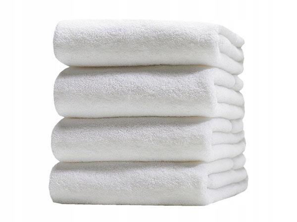 Распродажа 50% Белое Гостиничное Полотенце 140x70