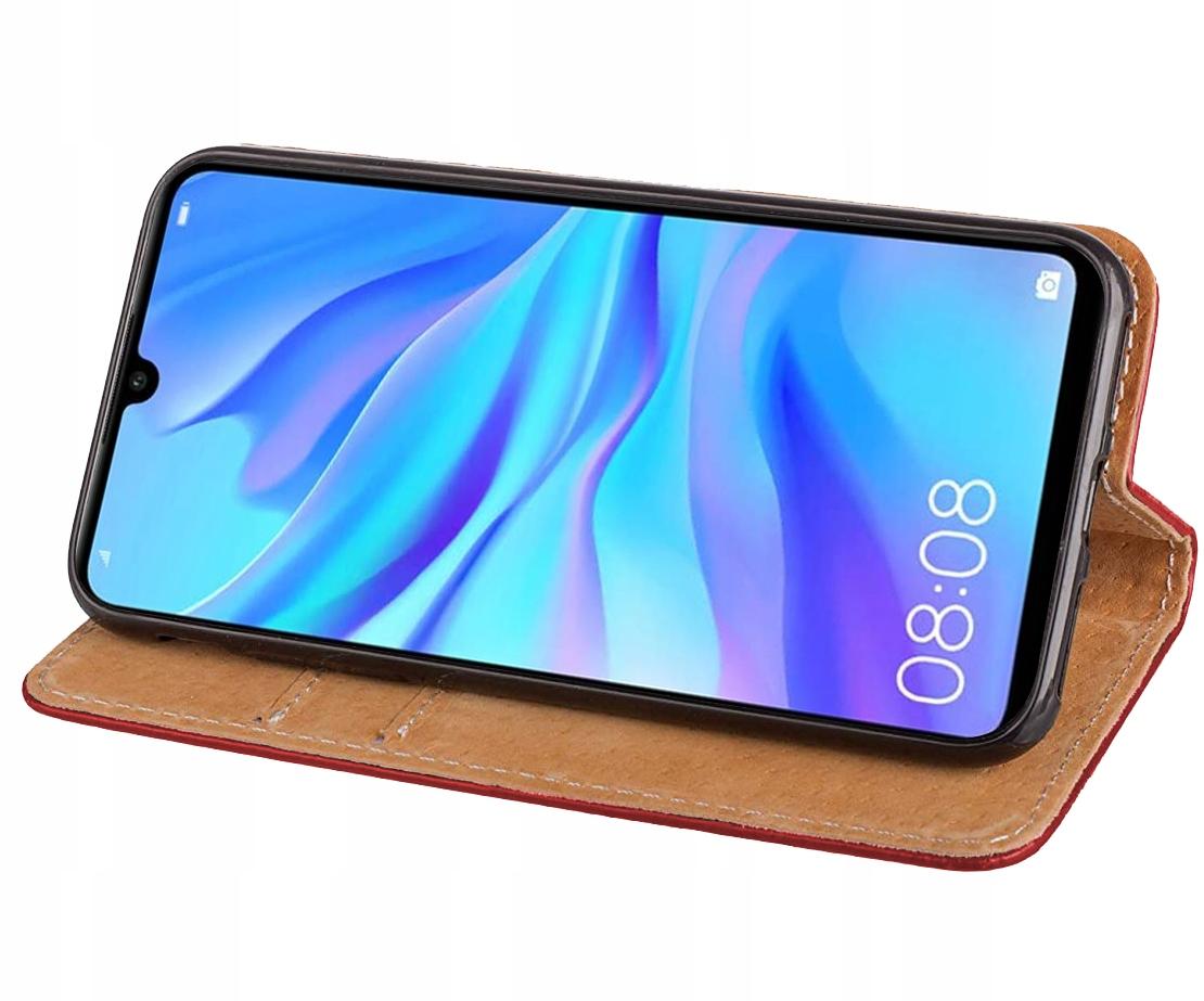 ETUI SKÓRZANE MAGNET + SZKŁO 9H do Huawei P30 Lite Producent INNY