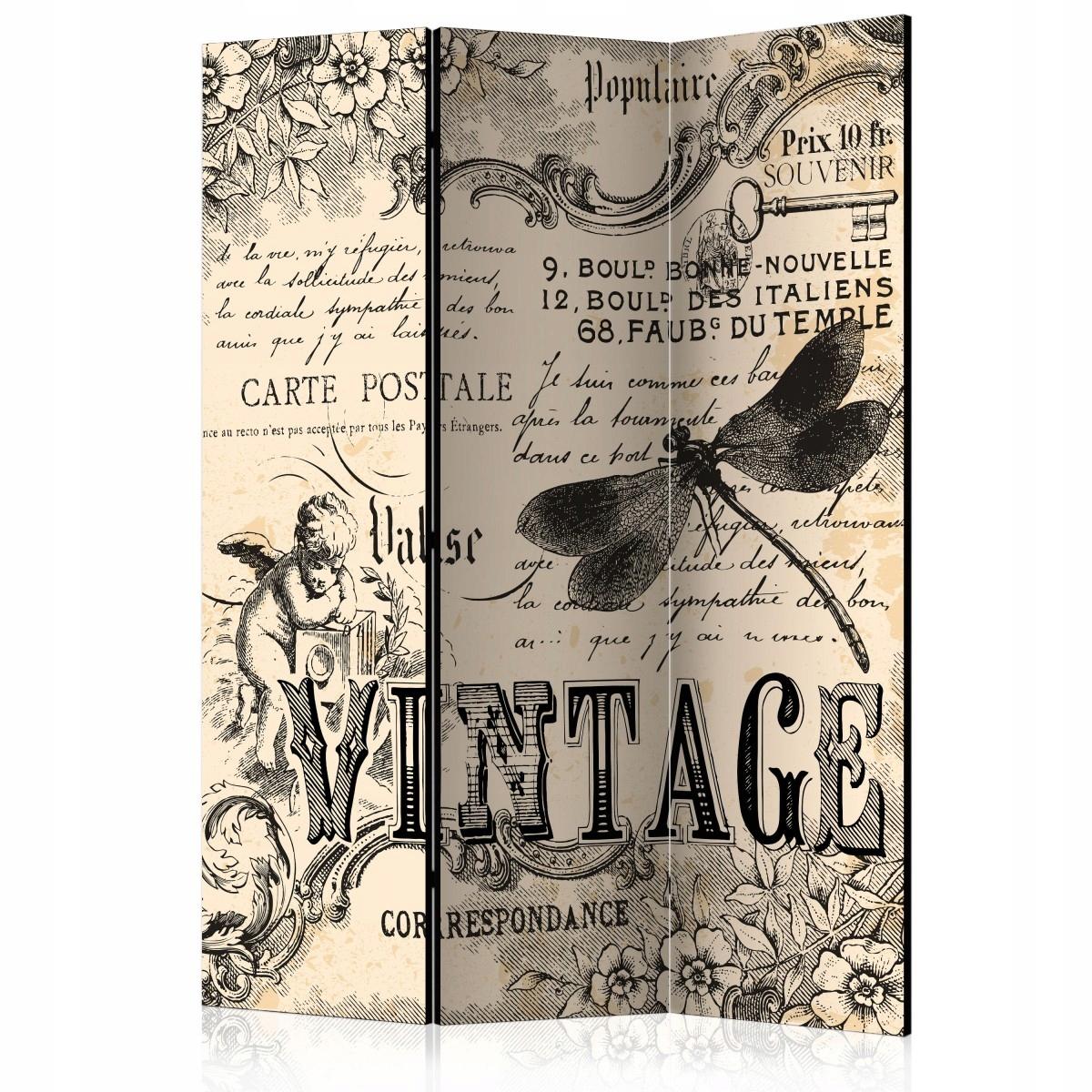 Obrazovka z troch kusov 135x172 Vintage retro noviny