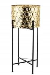 Металлическая крышка на золотой подставке, 91x40,5x40,5 см