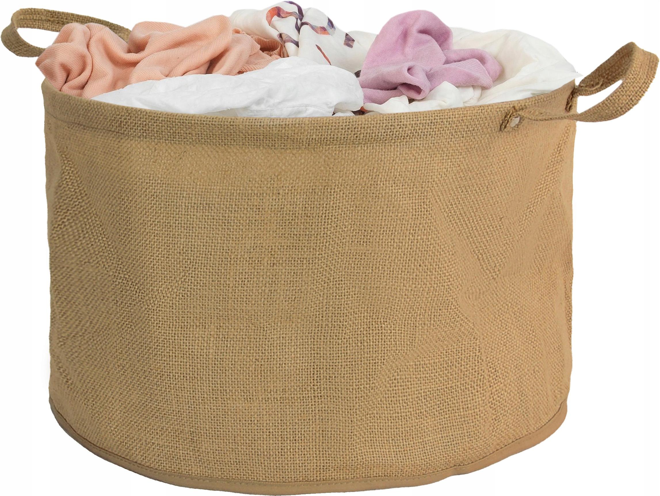 Ľanový košík Kôš Pracie prádlo Spodné prádlo