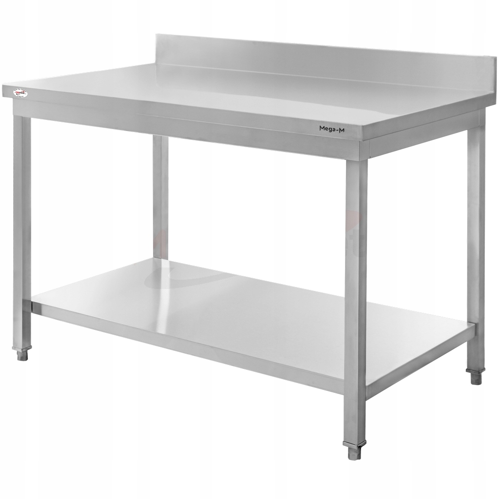 Рабочий стол из нержавеющей стали, 120x60