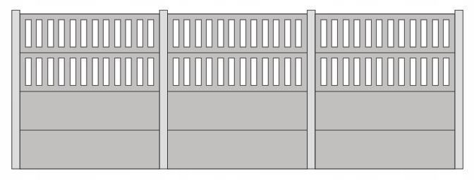 Płot betonowy typ C - 1:87 H0