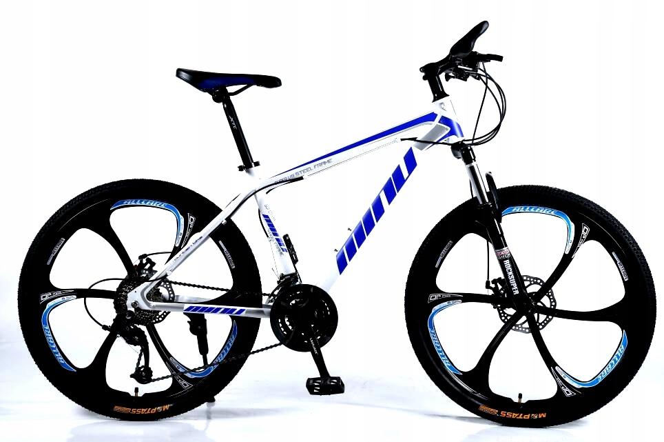"""Rower górski MTB Minu 26"""" 6R biało-niebieski"""