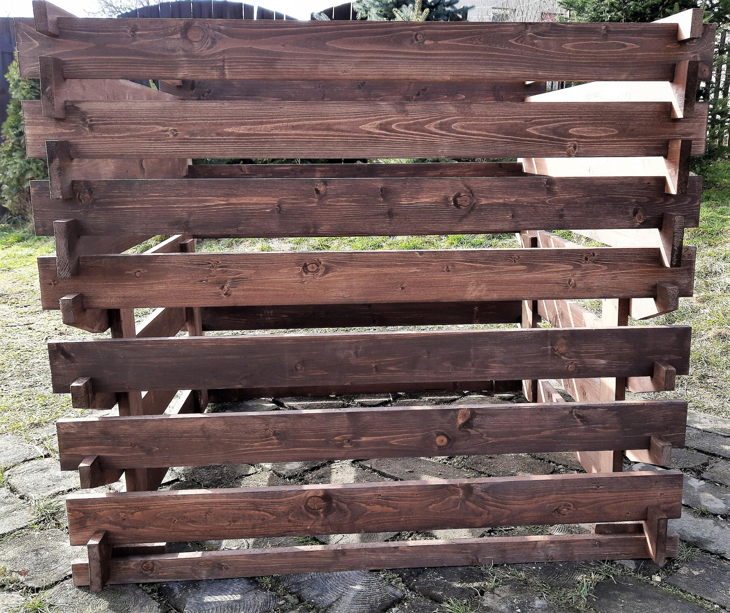Компостер деревянный, 1200 литров, цветная пропитка