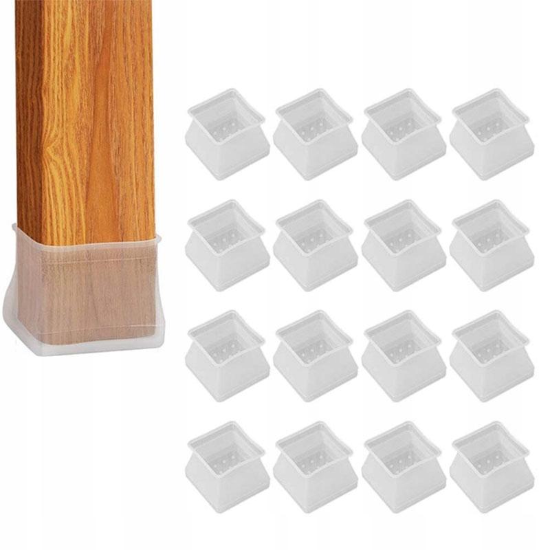 16X Nakładki podkładki na nogi krzesła silikonowe