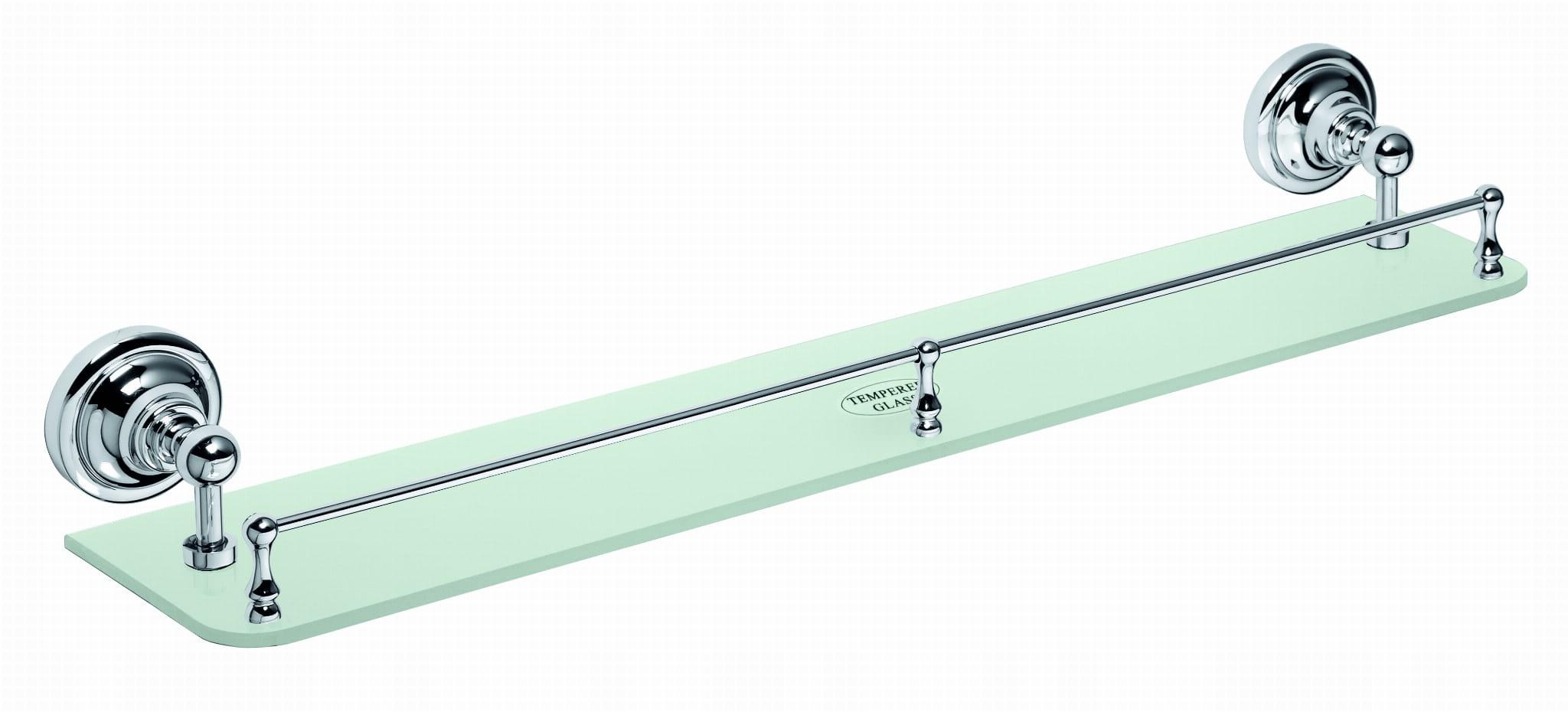 Chrómovaná sklenená polica BEMETA RETRO so zábradlím