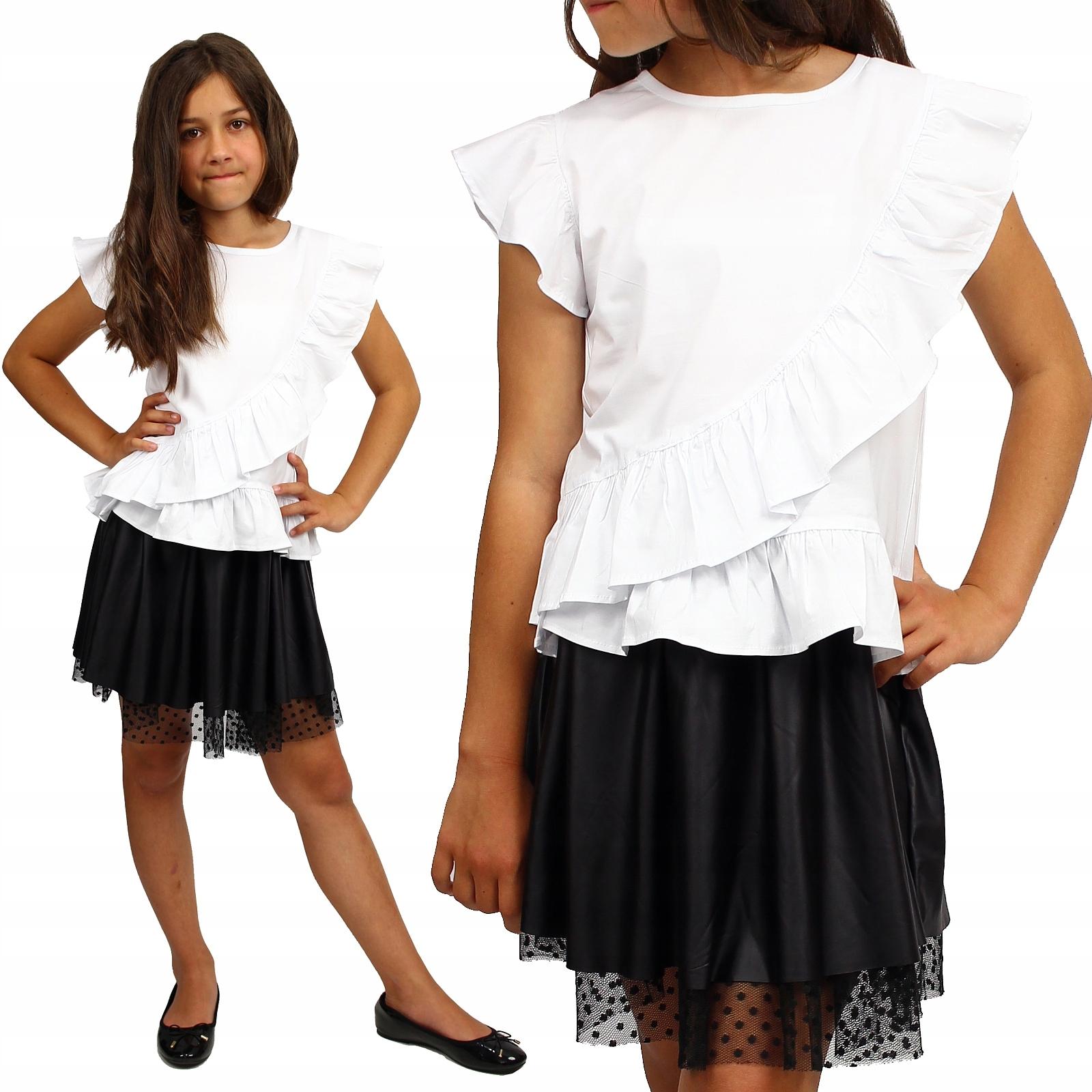 Блузка белые ербины летняя школа хлопок 152